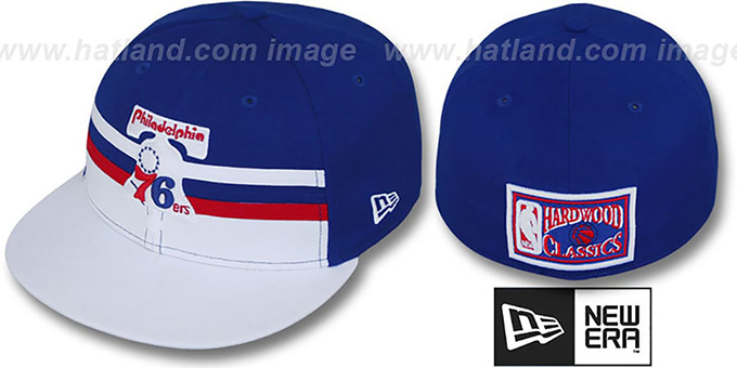76ers 'HARDWOOD HORIZON' Fitted Hat by New Era : pictured without stickers that these products are shipped with