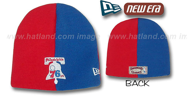 76ers 'HARDWOOD TOQUE' Knit Hat by New Era : pictured without stickers that these products are shipped with