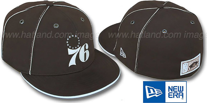 76ers 'HW CHOCOLATE DaBu' Fitted Hat by New Era : pictured without stickers that these products are shipped with