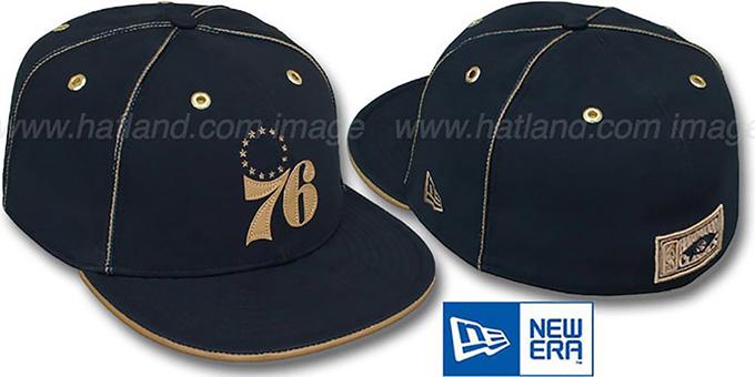 8436f019741 Philadelphia 76ers HW NAVY DaBu Fitted Hat by New Era