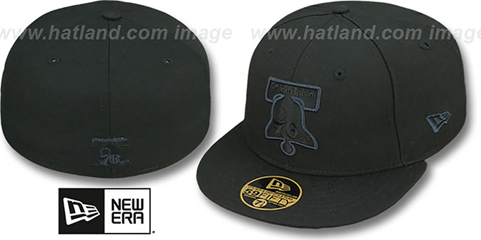 76ers 'HWC FADEOUT-BASIC' Black Fitted Hat by New Era : pictured without stickers that these products are shipped with
