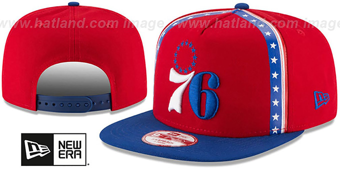 76ers 'NBA JERSEY MURAL SNAPBACK' Hat by New Era : pictured without stickers that these products are shipped with