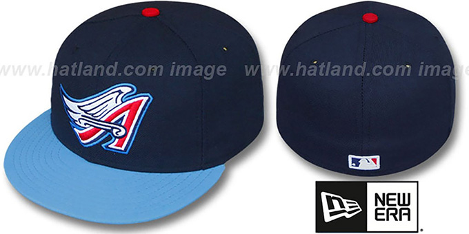 Angels 2000 'ALTERNATE' Hat by New Era : pictured without stickers that these products are shipped with