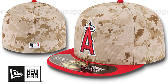 Angels '2014 STARS N STRIPES' Fitted Hat by New Era : pictured without stickers that these products are shipped with