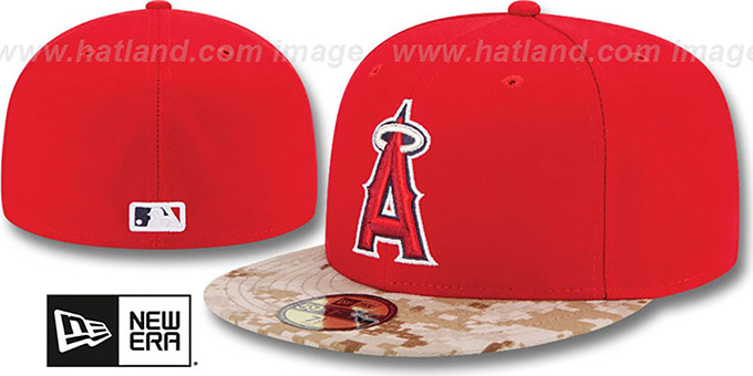 Angels '2015 STARS N STRIPES' Fitted Hat by New Era : pictured without stickers that these products are shipped with