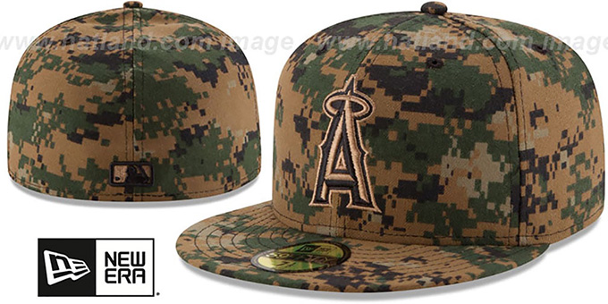 Angels 2016 MEMORIAL DAY 'STARS N STRIPES' Hat by New Era : pictured without stickers that these products are shipped with
