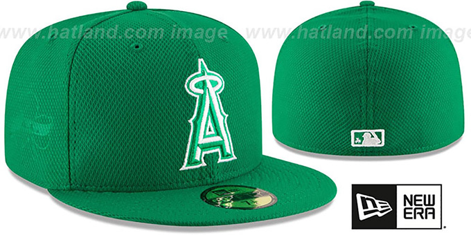 Angels '2016 ST PATRICKS DAY' Hat by New Era : pictured without stickers that these products are shipped with