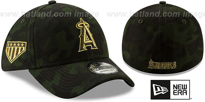 8203d41d0b898 Angels 2019 ARMED FORCES  STARS N STRIPES FLEX  Hat by New Era