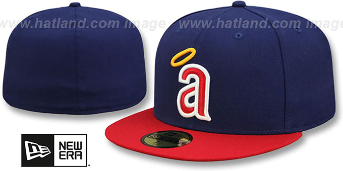 Angels 'CAREW' Fitted Hat by New Era : pictured without stickers that these products are shipped with