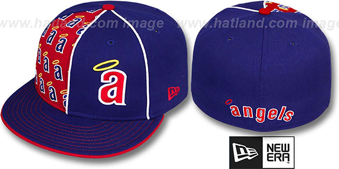 Angels COOP 'MULTIPLY' Royal-Red Fitted Hat by New Era : pictured without stickers that these products are shipped with