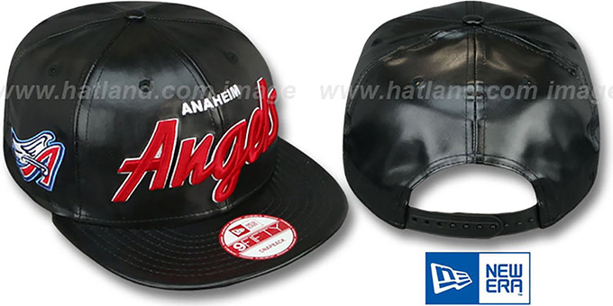 Angels COOP 'REDUX SNAPBACK' Black Hat by New Era : pictured without stickers that these products are shipped with