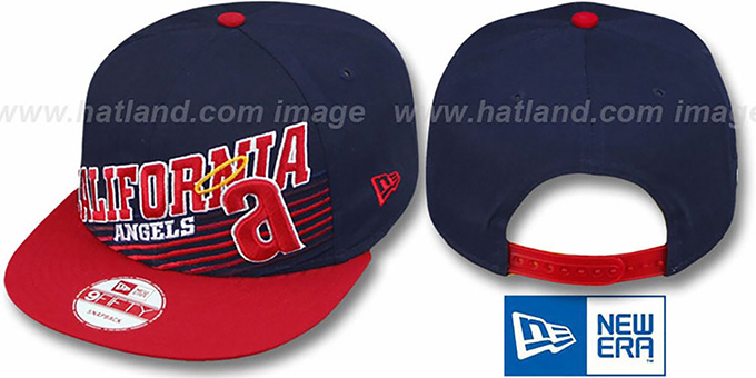 Angels COOP 'STILL ANGLIN SNAPBACK' Navy-Red Hat by New Era : pictured without stickers that these products are shipped with