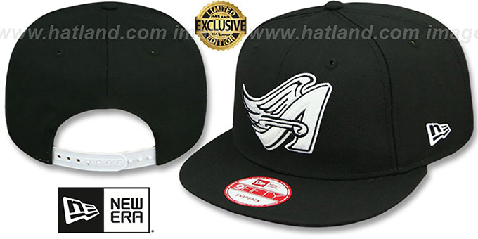 Angels COOP 'TEAM-BASIC SNAPBACK' Black-White Hat by New Era : pictured without stickers that these products are shipped with