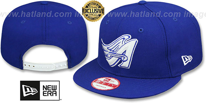 Angels COOP 'TEAM-BASIC SNAPBACK' Royal-White Hat by New Era : pictured without stickers that these products are shipped with