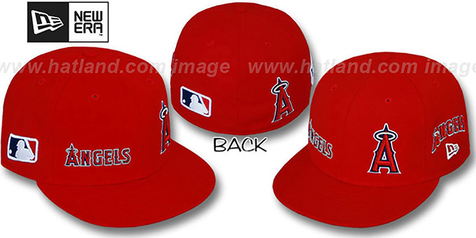Angels 'EVOLUTION' Fitted Hat by New Era - red : pictured without stickers that these products are shipped with