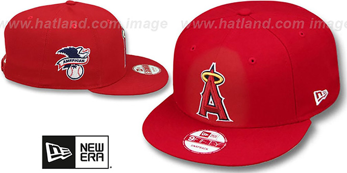 Angels 'LEAGUE REPLICA GAME SNAPBACK' Hat by New Era : pictured without stickers that these products are shipped with