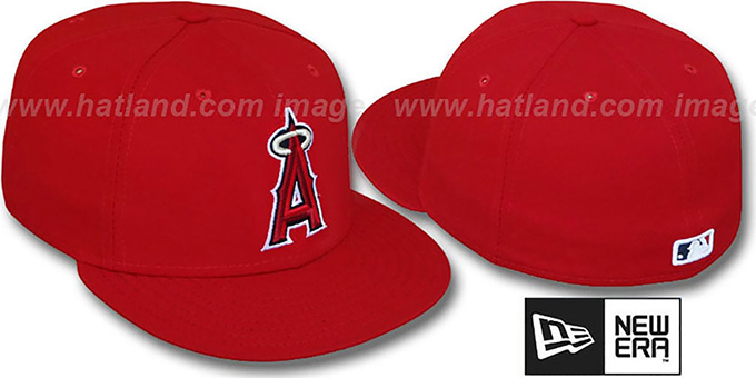 Angels 'PERFORMANCE GAME' Hat by New Era : pictured without stickers that these products are shipped with