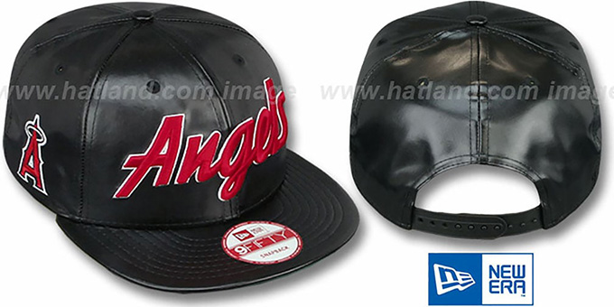 Angels 'REDUX SNAPBACK' Black Hat by New Era : pictured without stickers that these products are shipped with