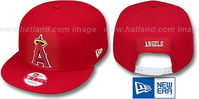 Angels 'REPLICA GAME SNAPBACK' Hat by New Era : pictured without stickers that these products are shipped with