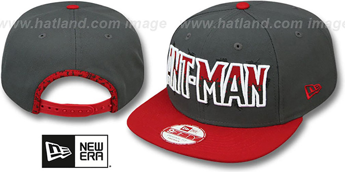 Ant-Man 'SUB-LOGO SNAPBACK' Grey-Red Hat by New Era : pictured without stickers that these products are shipped with