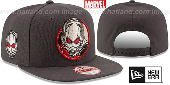 Antman 'RETROFLECT SNAPBACK' Grey Hat by New Era : pictured without stickers that these products are shipped with
