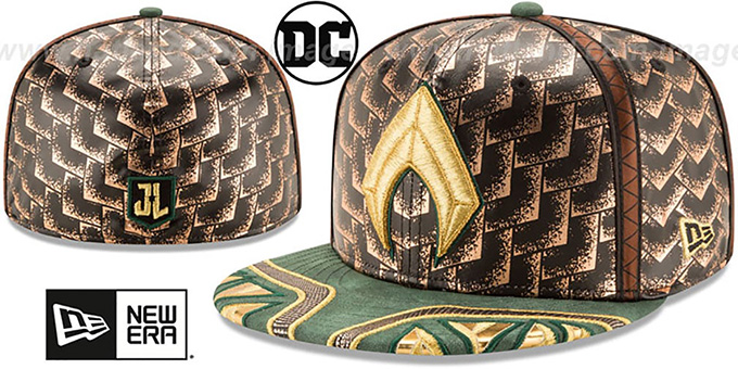 fb0b0bde8ba43 ... Aquaman 'CHARACTER JUSTICE LEAGUE' Fitted Hat by New Era