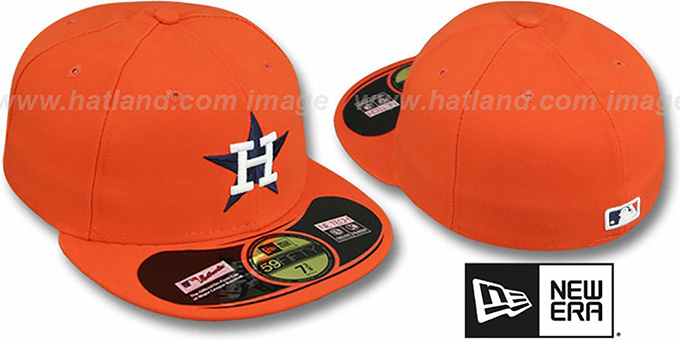 Astros 1970s 'PERFORMANCE GAME' Hat by New Era : pictured without stickers that these products are shipped with