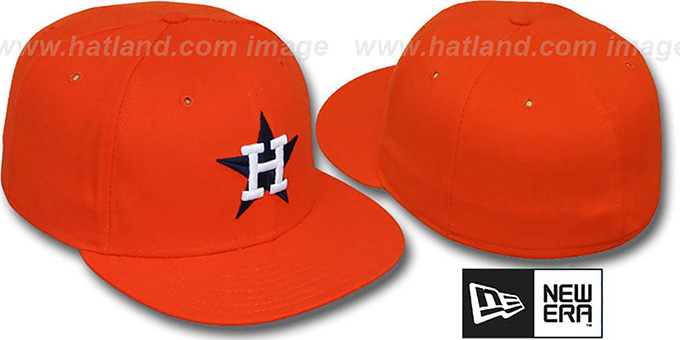 Astros '1975 GAME' Fitted Hat by New Era : pictured without stickers that these products are shipped with
