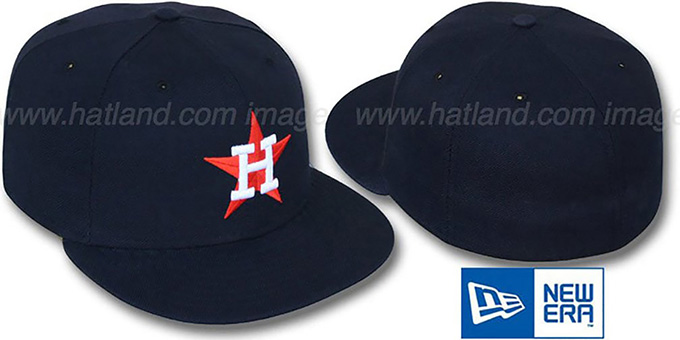 Astros '1980-93 GAME' Fitted Hat by New Era : pictured without stickers that these products are shipped with