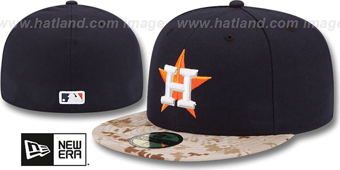Astros '2015 STARS N STRIPES' Fitted Hat by New Era : pictured without stickers that these products are shipped with