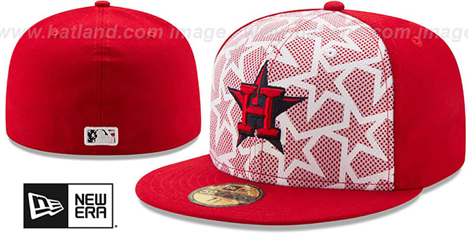 Astros '2016 JULY 4TH STARS N STRIPES' Fitted Hat by New Era : pictured without stickers that these products are shipped with