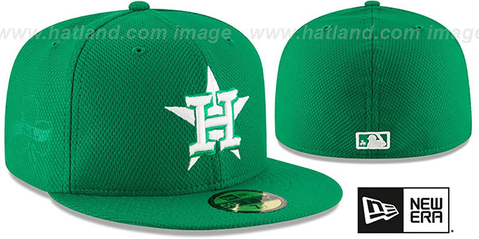 Astros '2016 ST PATRICKS DAY' Hat by New Era : pictured without stickers that these products are shipped with