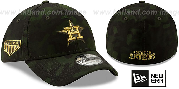 100% authentic f8799 30beb Astros 2019 ARMED FORCES  STARS N STRIPES FLEX  Hat by New Era