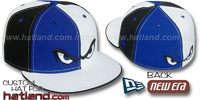 Storm 'PINWHEEL' Royal-White-Black Fitted Hat by New Era : pictured without stickers that these products are shipped with
