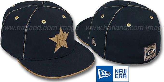 Astros COOP 'NAVY DaBu' Fitted Hat by New Era : pictured without stickers that these products are shipped with
