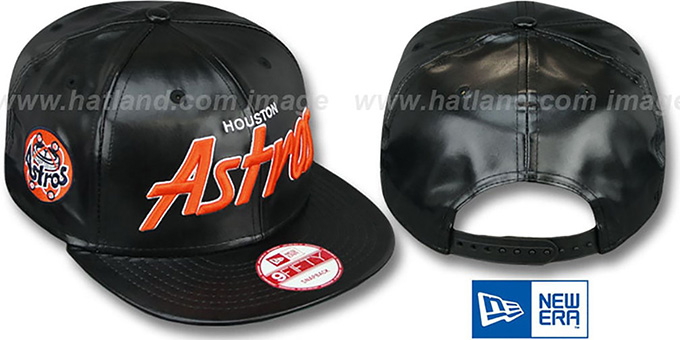 Astros COOP 'REDUX SNAPBACK' Black Hat by New Era : pictured without stickers that these products are shipped with