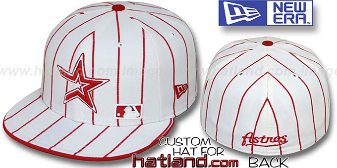 Astros 'FABULOUS' White-Red Fitted Hat by New Era : pictured without stickers that these products are shipped with