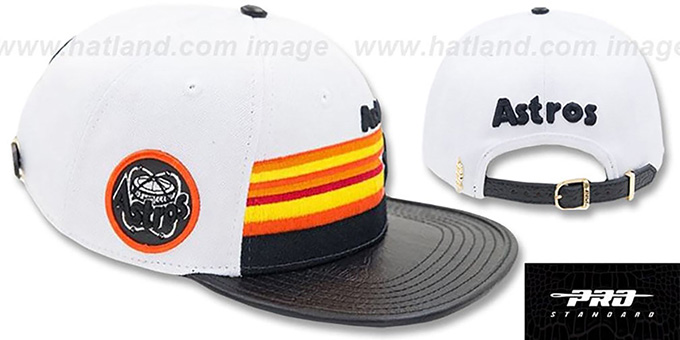 3cacd4d8729d5 Astros  MULTI HORIZON STRAPBACK  White-Black Hat by Pro Standard