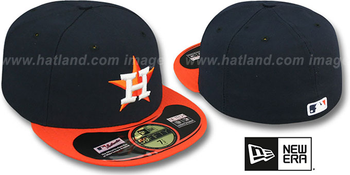 Astros 'PERFORMANCE ROAD' Hat by New Era : pictured without stickers that these products are shipped with