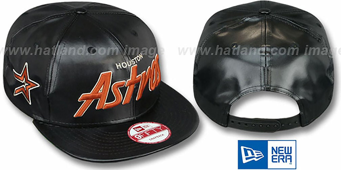 Astros 'REDUX SNAPBACK' Black Hat by New Era : pictured without stickers that these products are shipped with