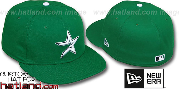 Astros 'St Patricks Day' Fitted Hat by New Era - green : pictured without stickers that these products are shipped with