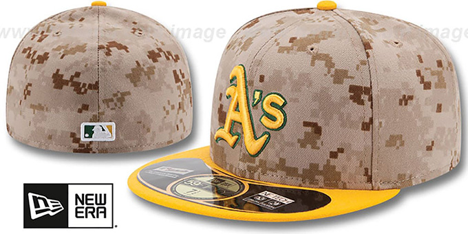 Athletics '2014 STARS N STRIPES' Fitted Hat by New Era : pictured without stickers that these products are shipped with