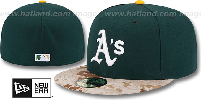 Athletics '2015 STARS N STRIPES' Fitted Hat by New Era : pictured without stickers that these products are shipped with