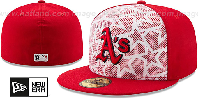 Athletics '2016 JULY 4TH STARS N STRIPES' Fitted Hat by New Era : pictured without stickers that these products are shipped with