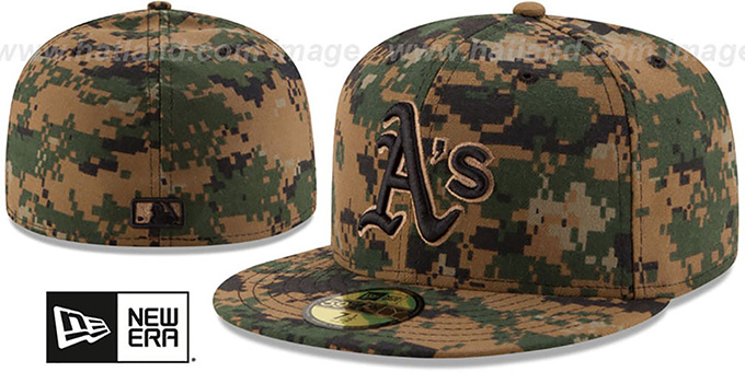 Athletics 2016 MEMORIAL DAY 'STARS N STRIPES' Hat by New Era : pictured without stickers that these products are shipped with