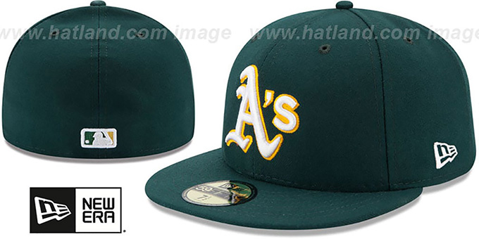Athletics '2017 ONFIELD ROAD' Hat by New Era : pictured without stickers that these products are shipped with