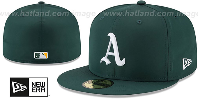super popular b62f2 00ef5 Athletics  2018 PROLIGHT-BP  Green Fitted Hat by New Era