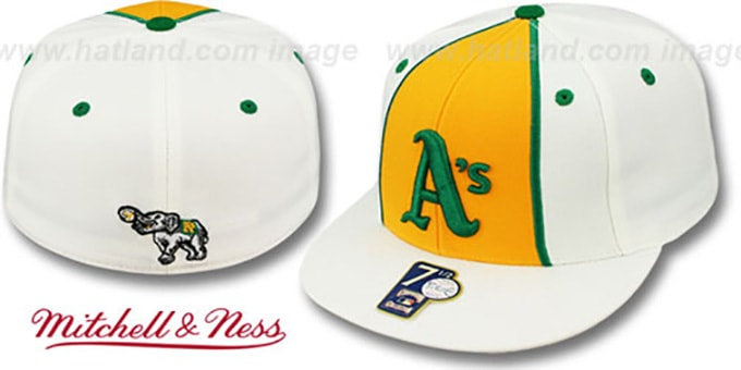 Athletics ALTERNATE 'ZELLA' Fitted Hat by Mitchell and Ness : pictured without stickers that these products are shipped with