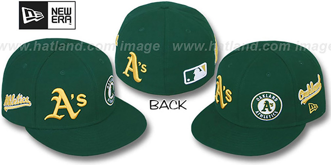 Athletics 'EVOLUTION' Fitted Hat by New Era - green : pictured without stickers that these products are shipped with