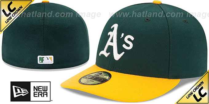 Athletics 'LOW-CROWN' HOME Fitted Hat by New Era : pictured without stickers that these products are shipped with